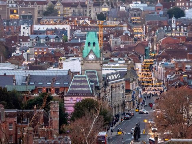 Photo by Southern Daily Echo camera club member Deborah Hicks - Winchesterfrom St Giles Hill looking towards the Westgate..