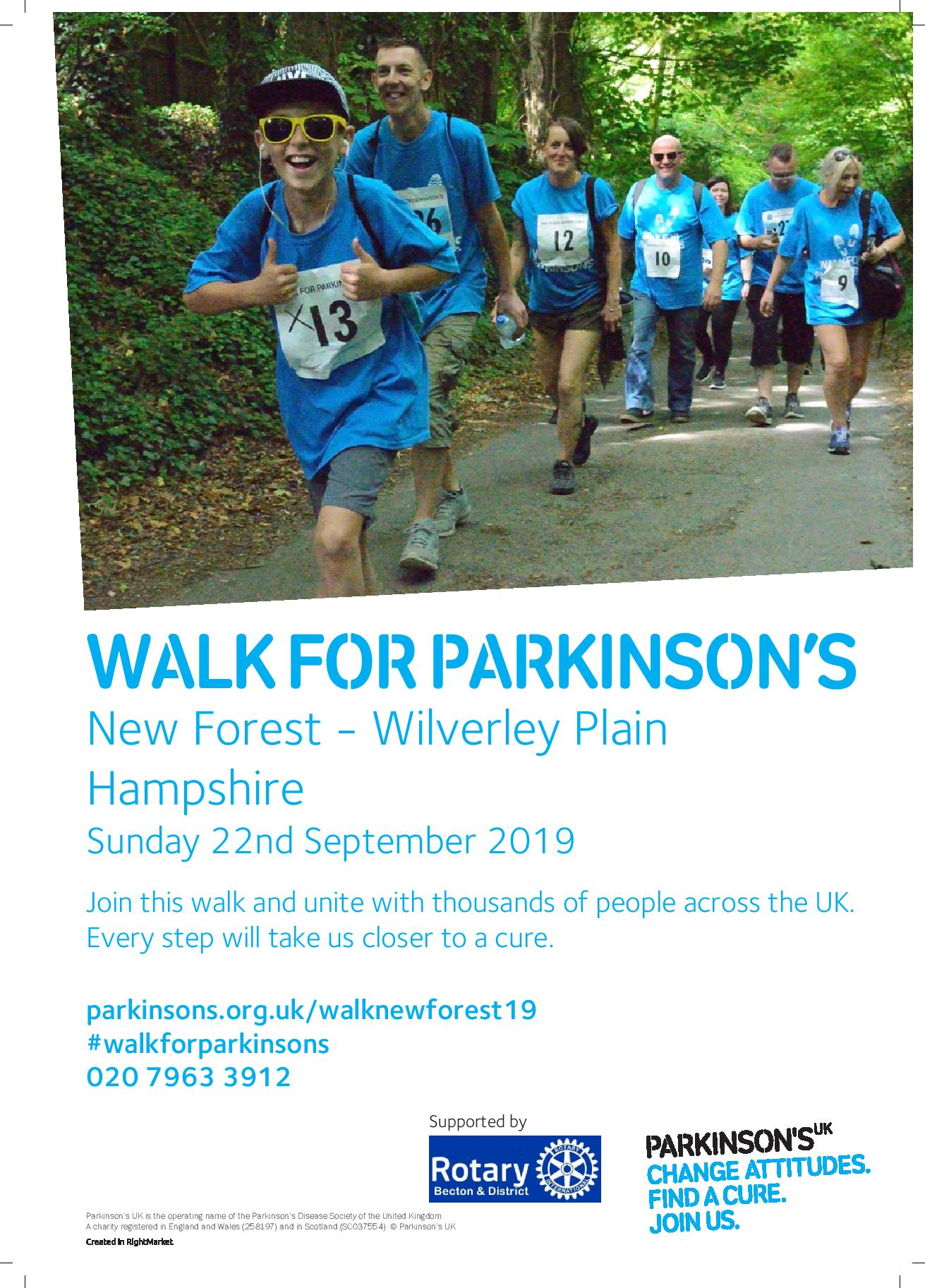 Walk for Parkinson's New Forest
