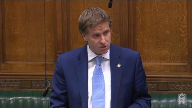 Winchester MP Steve Brine speaking during a debate on Winchester schools in Parliament.