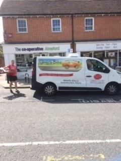 The Quick Bites vehicles illegally parked in Alresford