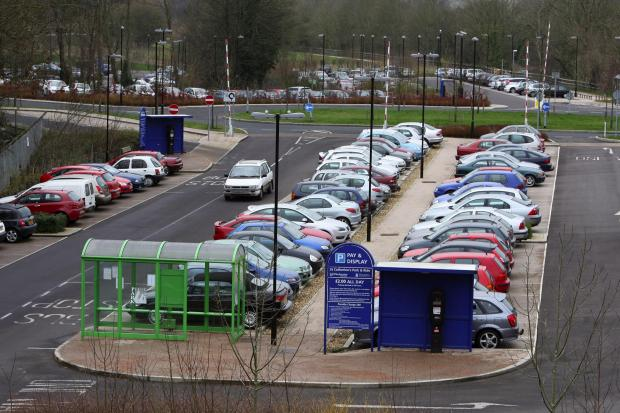 The park and ride at St Catherines car park, off Bar End Road