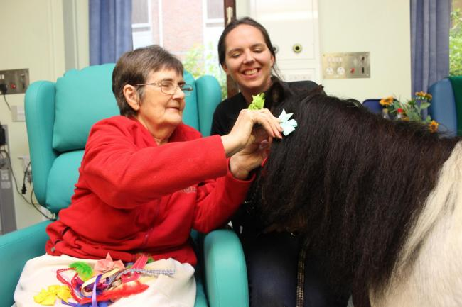 Patient Eva Nicholson with Super Noodles in the Willow Suite at Royal Hampshire County Hospital