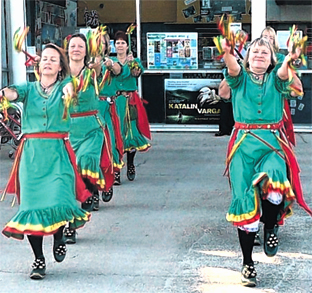Morris dancers entertain at cinema