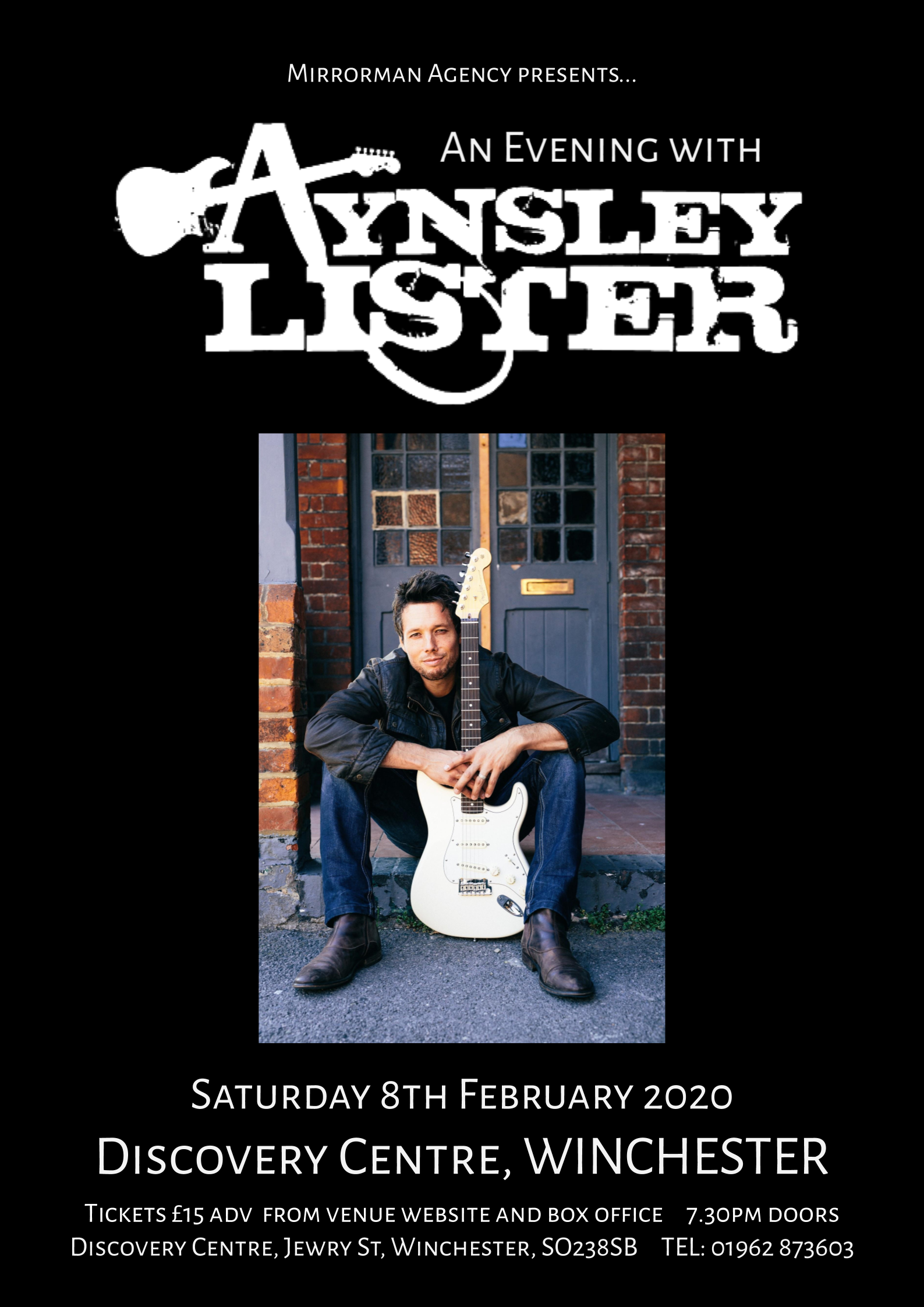 An Evening with Aynsley Lister at Discovery Centre, Winchester