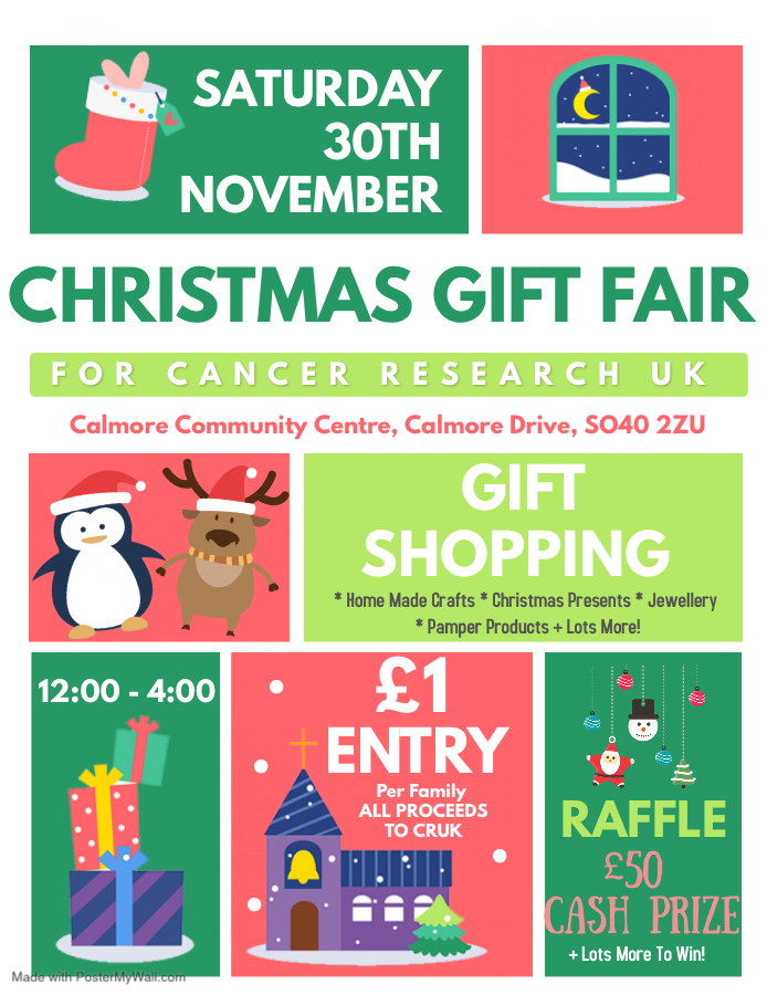 Christmas Gift Fair- Raising money for Cancer Research UK