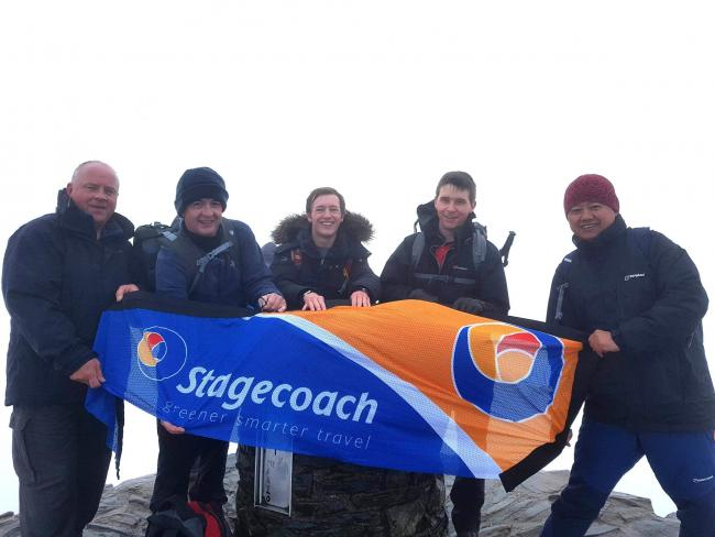 Stagecoach bus drivers from the Winchester depot climb Mount Snowdon