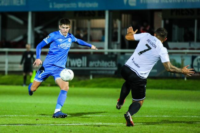 Eastleigh in action at Dover. Pic: Tom Mulholland