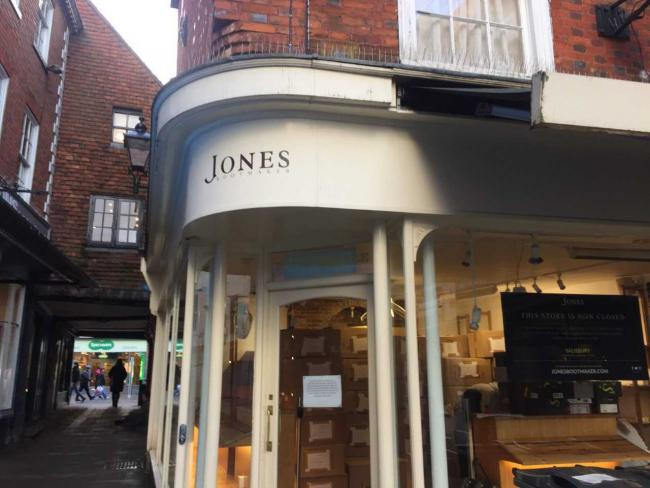 Jones Bootmaker in Winchester, 2018