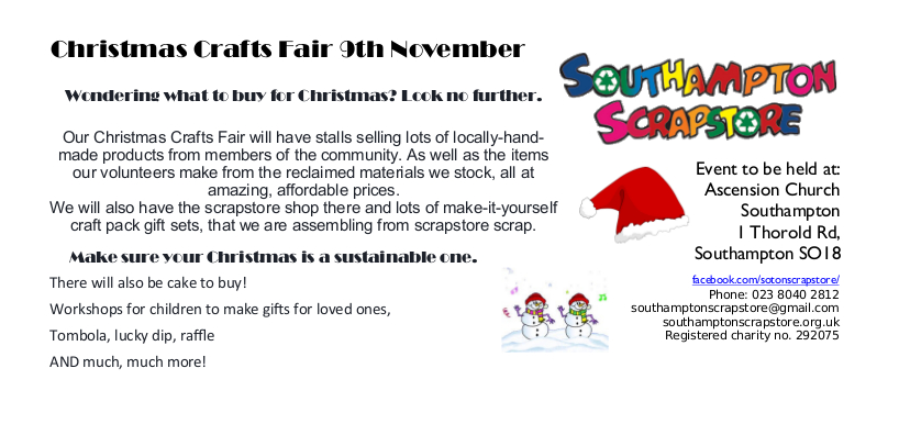 Southampton Scrapstore  Craft Fair