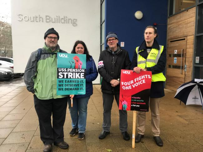 Staff at the Winchester School of Art have gone on strike
