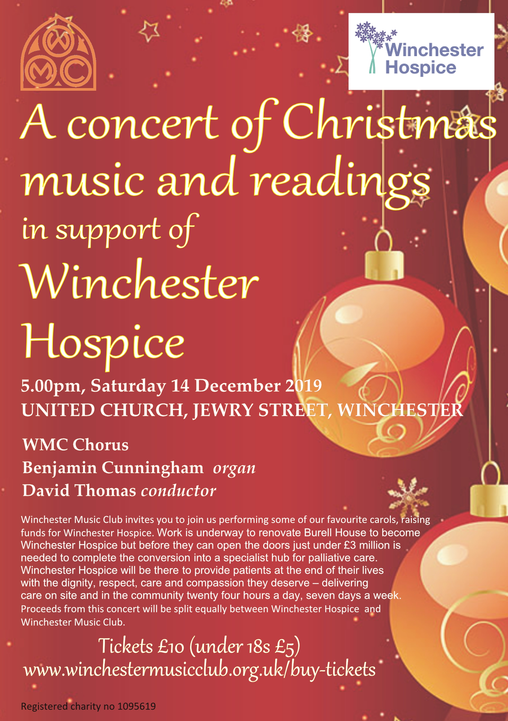A concert of Christmas music and readings in support of Winchester Hospice