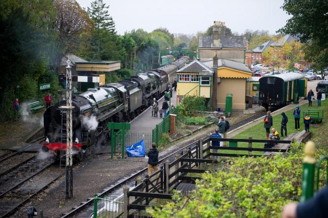 Watercress Line Autum Steam Gala at Alresford Station. Pic:.