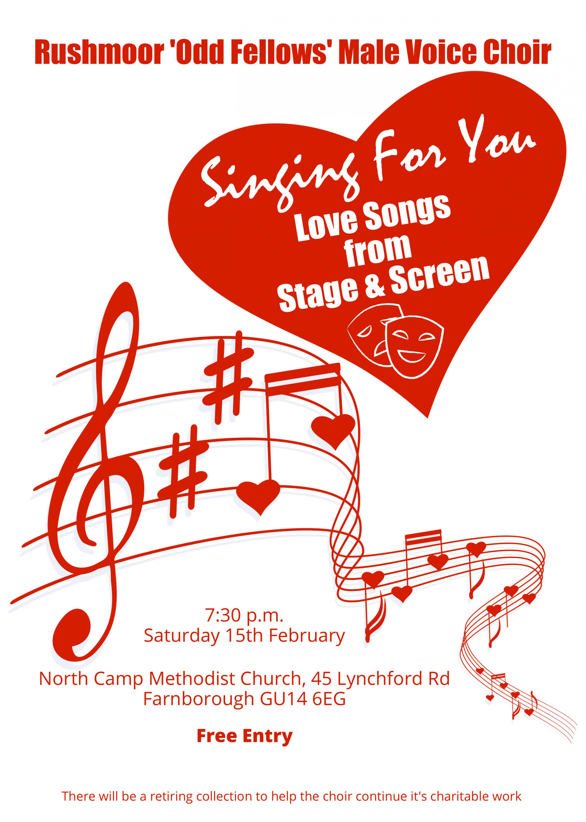 Rushmoor Male Voice Choir Valentines Concert