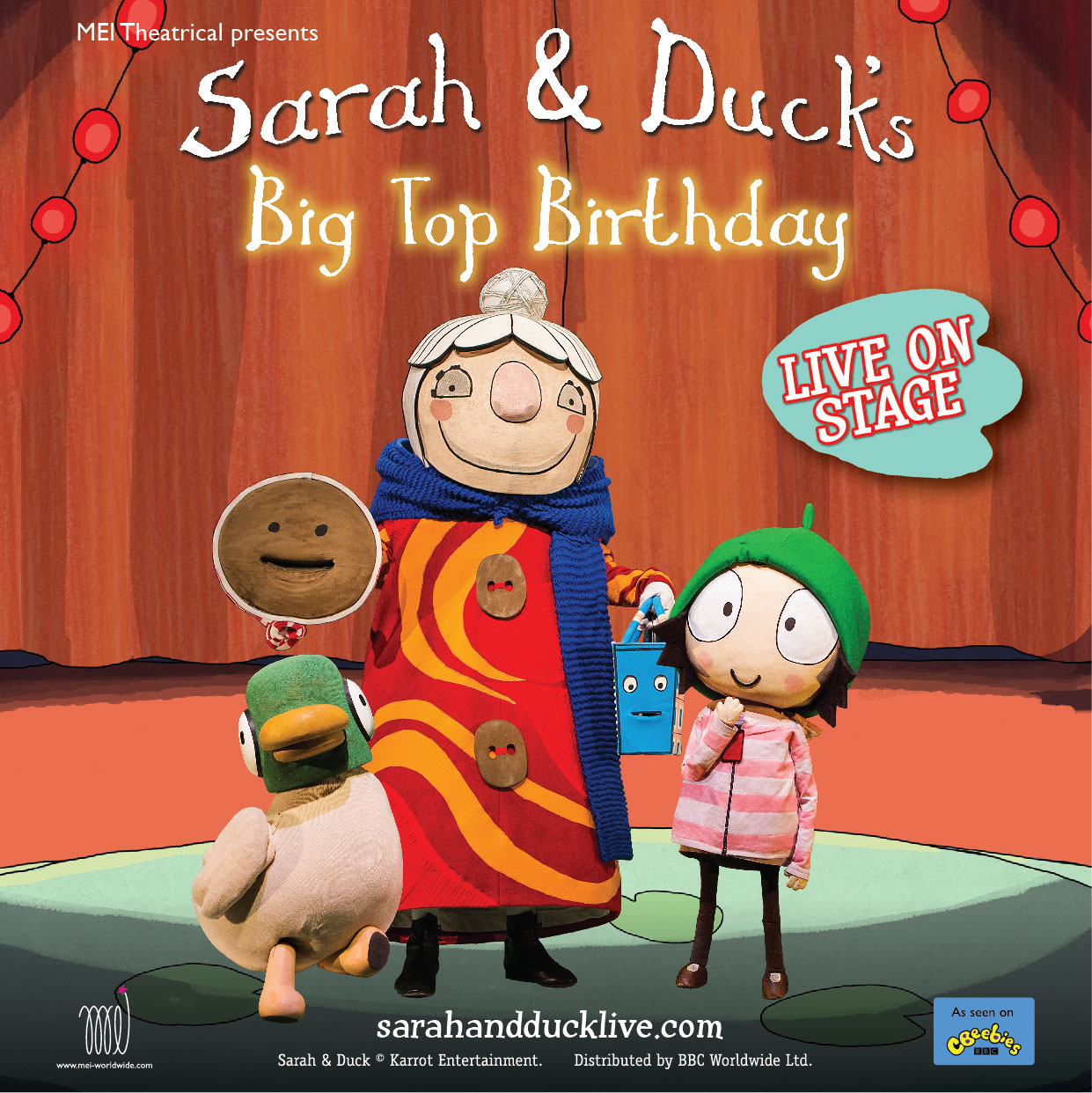 Sarah & Duck Live at Theatre Royal
