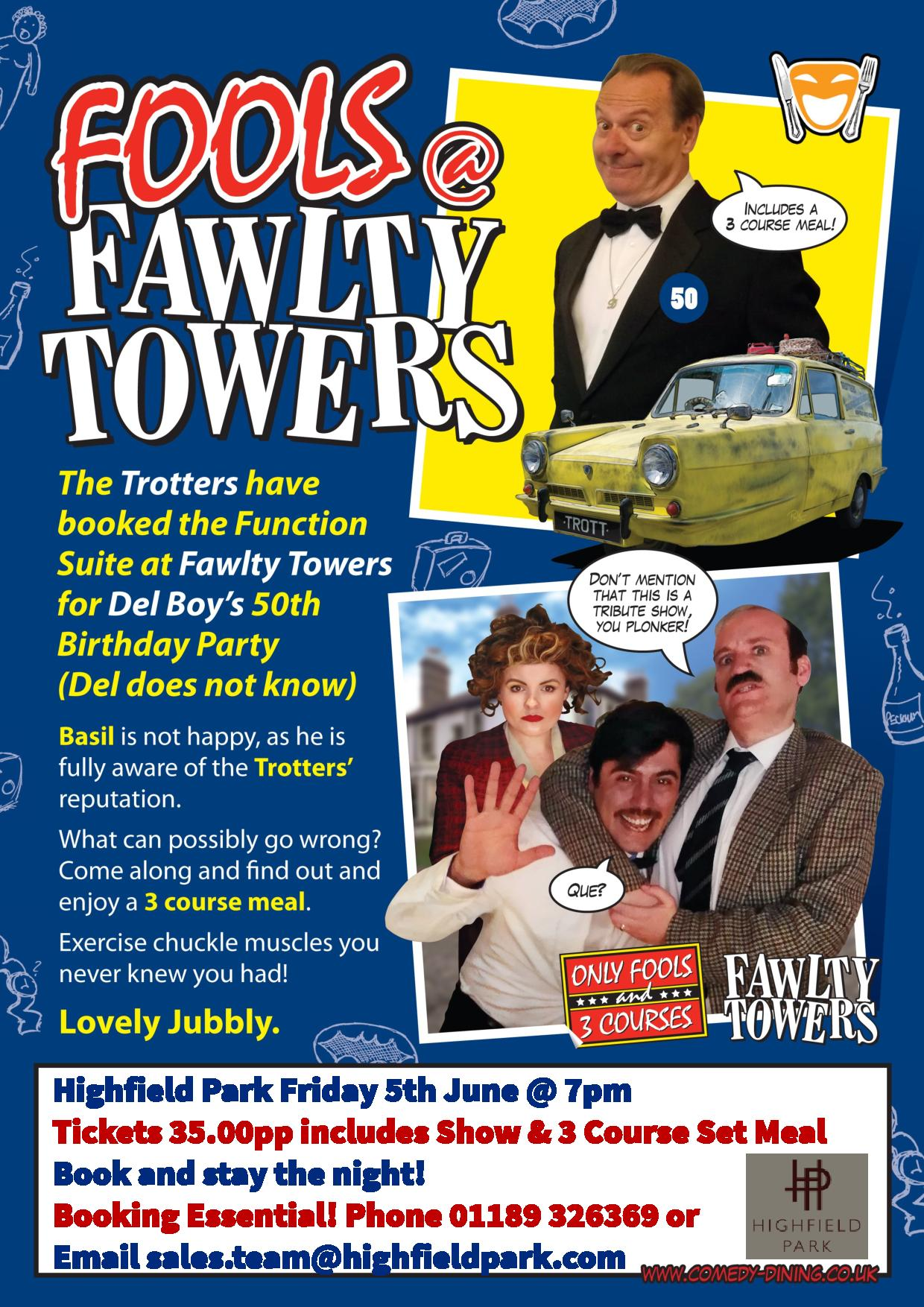 Fools @ Fawlty Towers Comedy Dinner