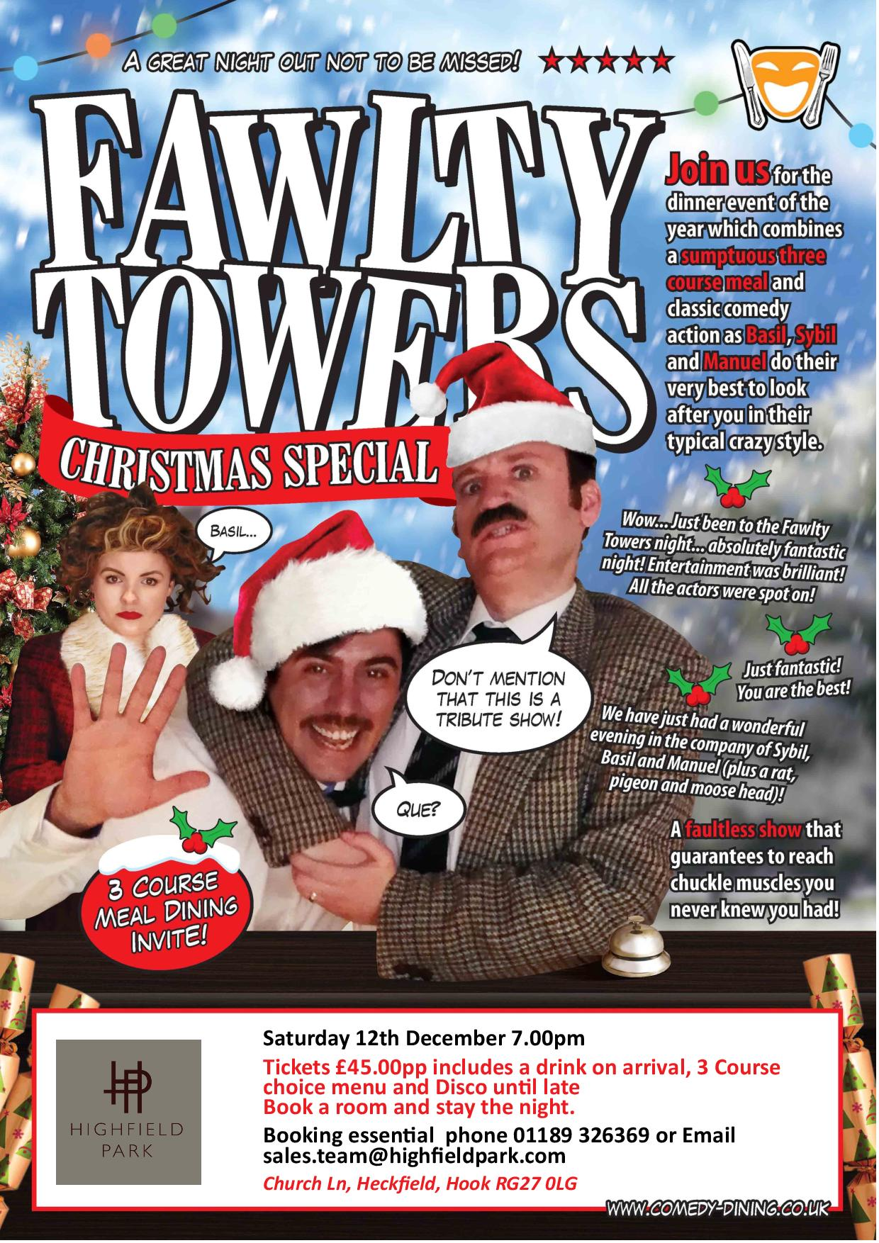 Fawlty Towers Christmas Special Comedy dinner