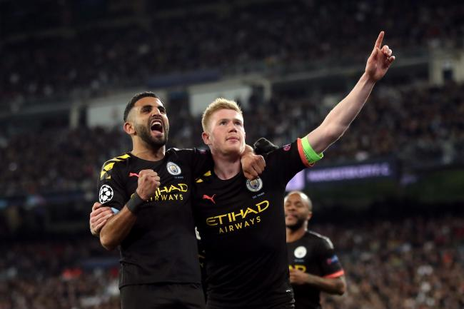 Kevin De Bruyne, right, led Manchester City to victory