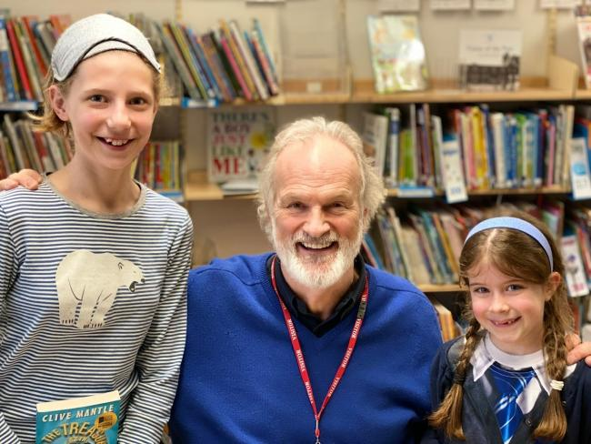 Clive Mantle at Kings Worthy Primary School for World Book Day