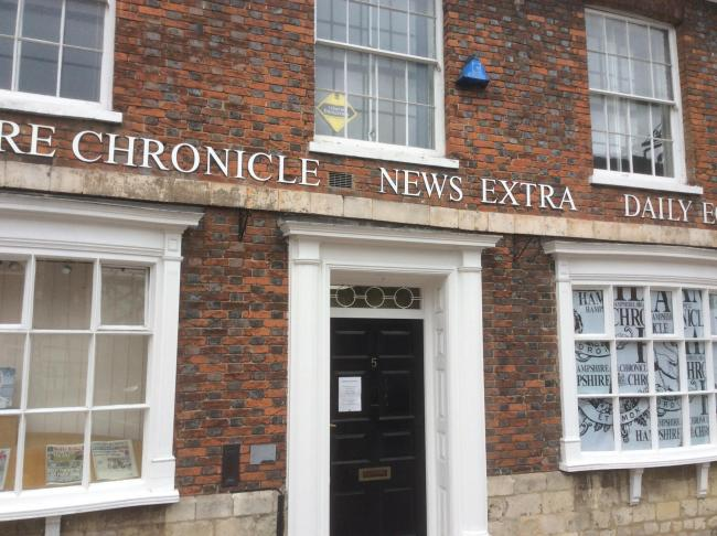 Hampshire Chronicle office.