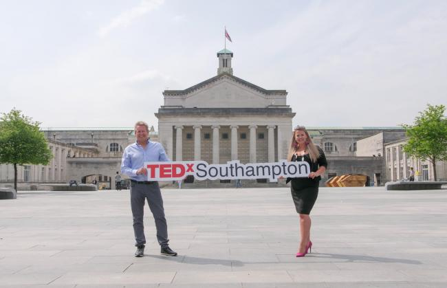 Lee Peck and Annelies James, organisers of TEDxSouthampton