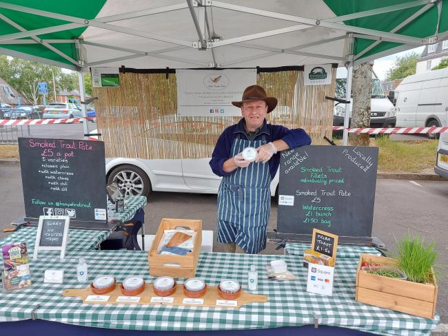 Winchester street market returns - Richard Butler is happy to be back despite reporting good trade during lockdown