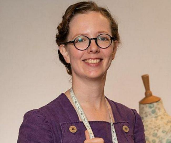 Clare Bradley won the Great British Sewing Bee. Image: BBC