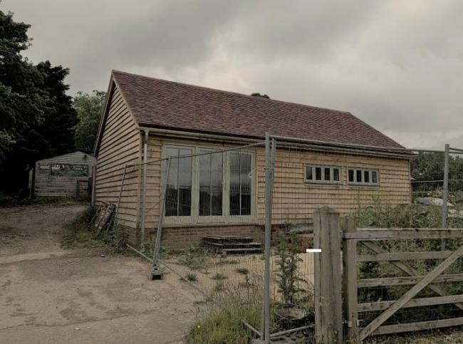 The building in Watley Lane, Sparsholt. Image from planning application