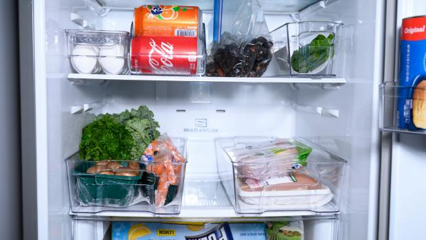 Hampshire Chronicle: Use an organising set to create more storage zones in your fridge. Credit: Reviewed / Betsey Goldwasser