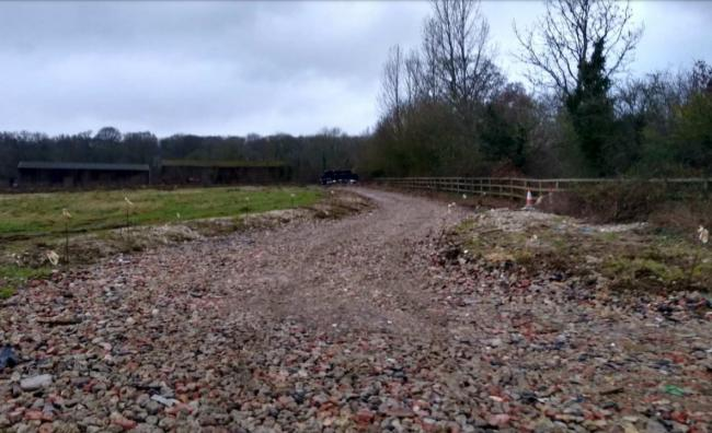 The site at Moris Farm. Photo: Winchester City Council