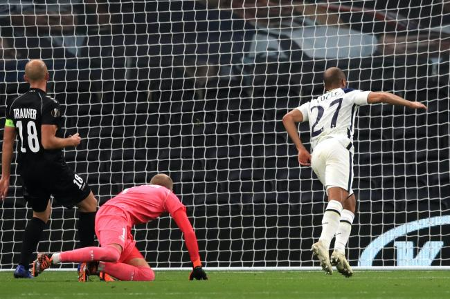 Lucas Moura was set up for his goal against LASK by Carlos Vinicius