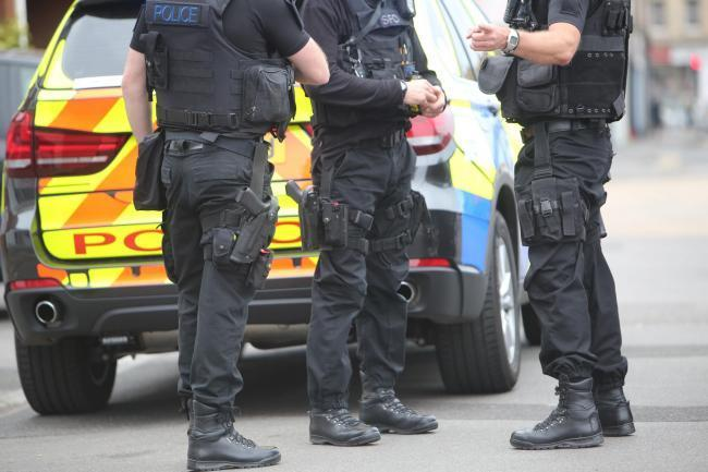 Armed police officers in Dorset