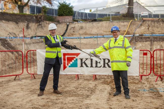Dr Tim Hands and Mark Norris of Kier