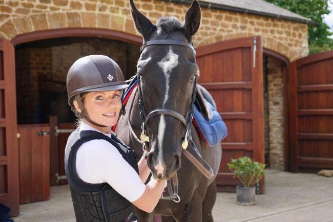 Geri Horner with her rescue horse