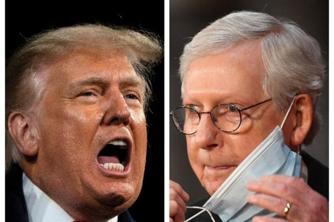 Donald Trump and Mitch McConnell