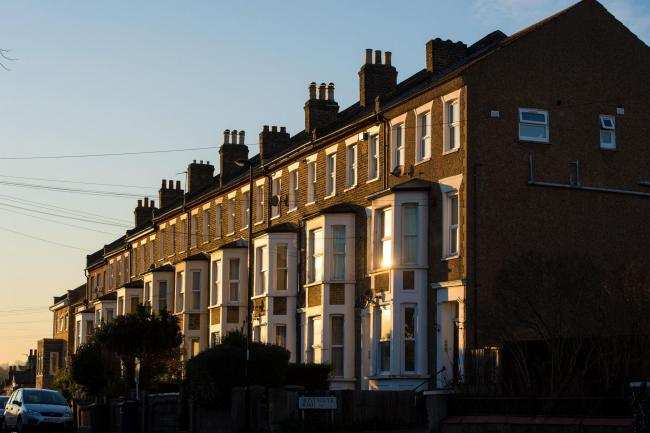 Terraced houses in south-east London. Ultra-low deposit mortgages are set to make a comeback with a new 5% deposit home loan guarantee scheme, details of which will be given in the Budget (Dominic Lipinski/PA)