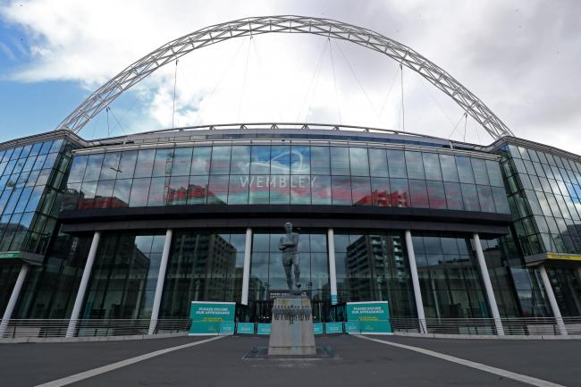 File photo dated 13-03-2020 of A general view of Wembley Stadium as England's Nations League match against Iceland on Wednesday will take place at Wembley, the Football Association has announced..