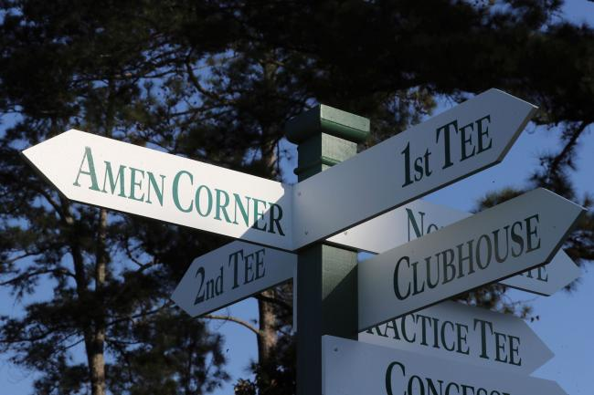Signage at Augusta National
