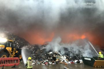 Lightning strike causes Yokesford Hill industrial estate fire involving household waste