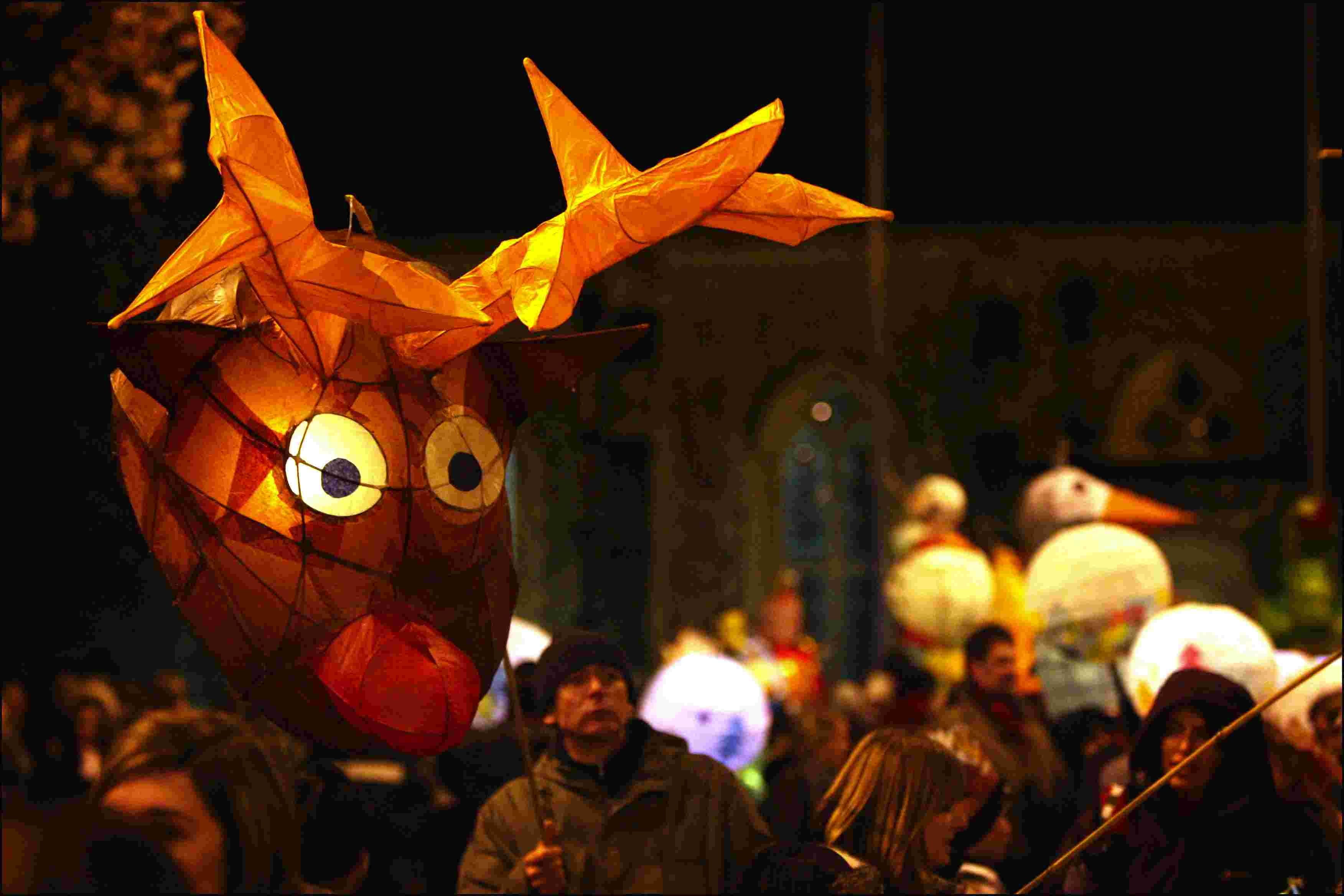 The Winchester Christmas Market traditionally opens with a lantern parade