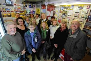 0b642636cf8 The team at Sparsholt Village Shop and Post Office with Cllr Richard Izard