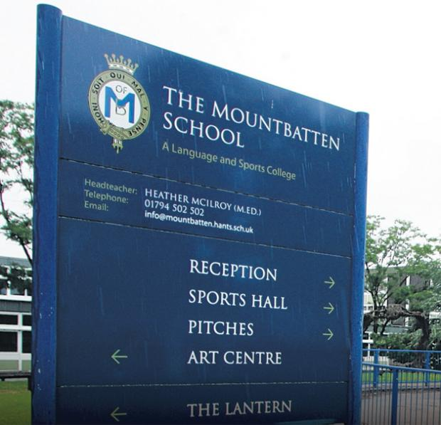 Hampshire Chronicle: Mountbatten School, Romsey, where the charity gig was to take place