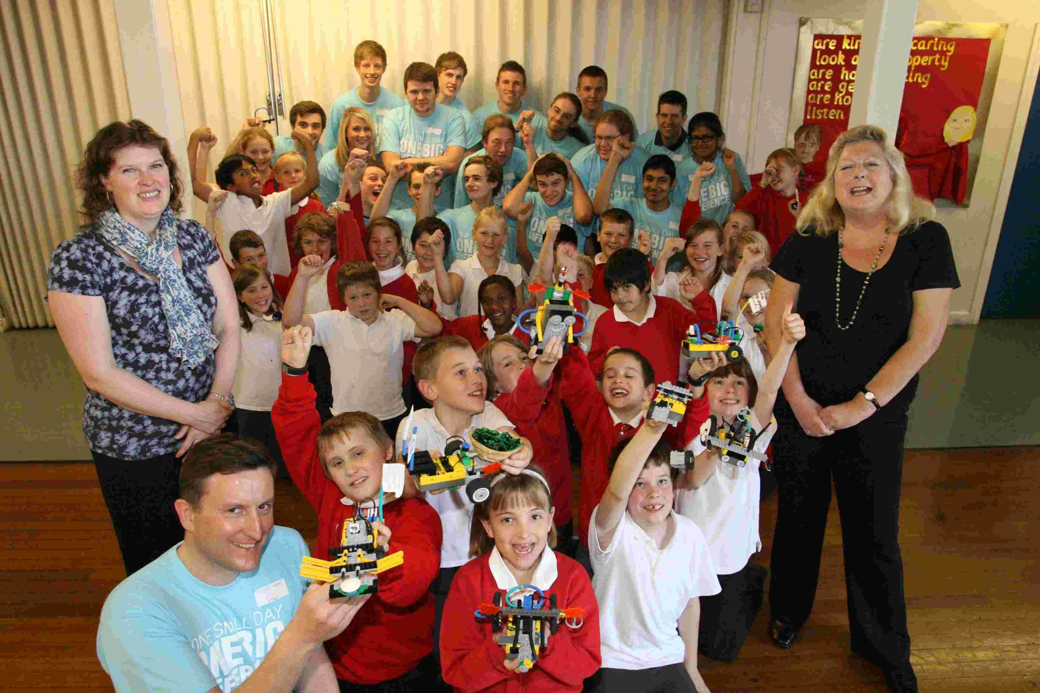 Pupils at Oliver's Battery Primary School made several robots thanks to some expert help from IBM staff
