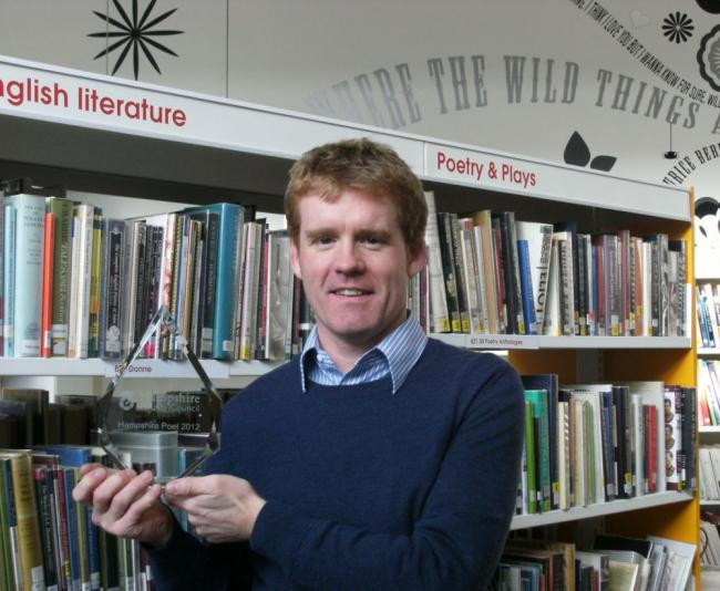 Brian Evans-Jones from Winchester has been named as Hampshire Poet for 2012 following a contest run by Hampshire County Council