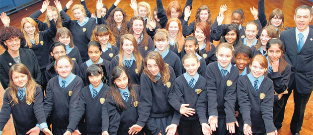 St Anne's pupils with Beverley Murtagh