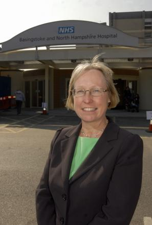 Chief executive Mary Edwards is appealing for patients to tell staff at Royal Hampshire County Hospital if they cannot make appointments
