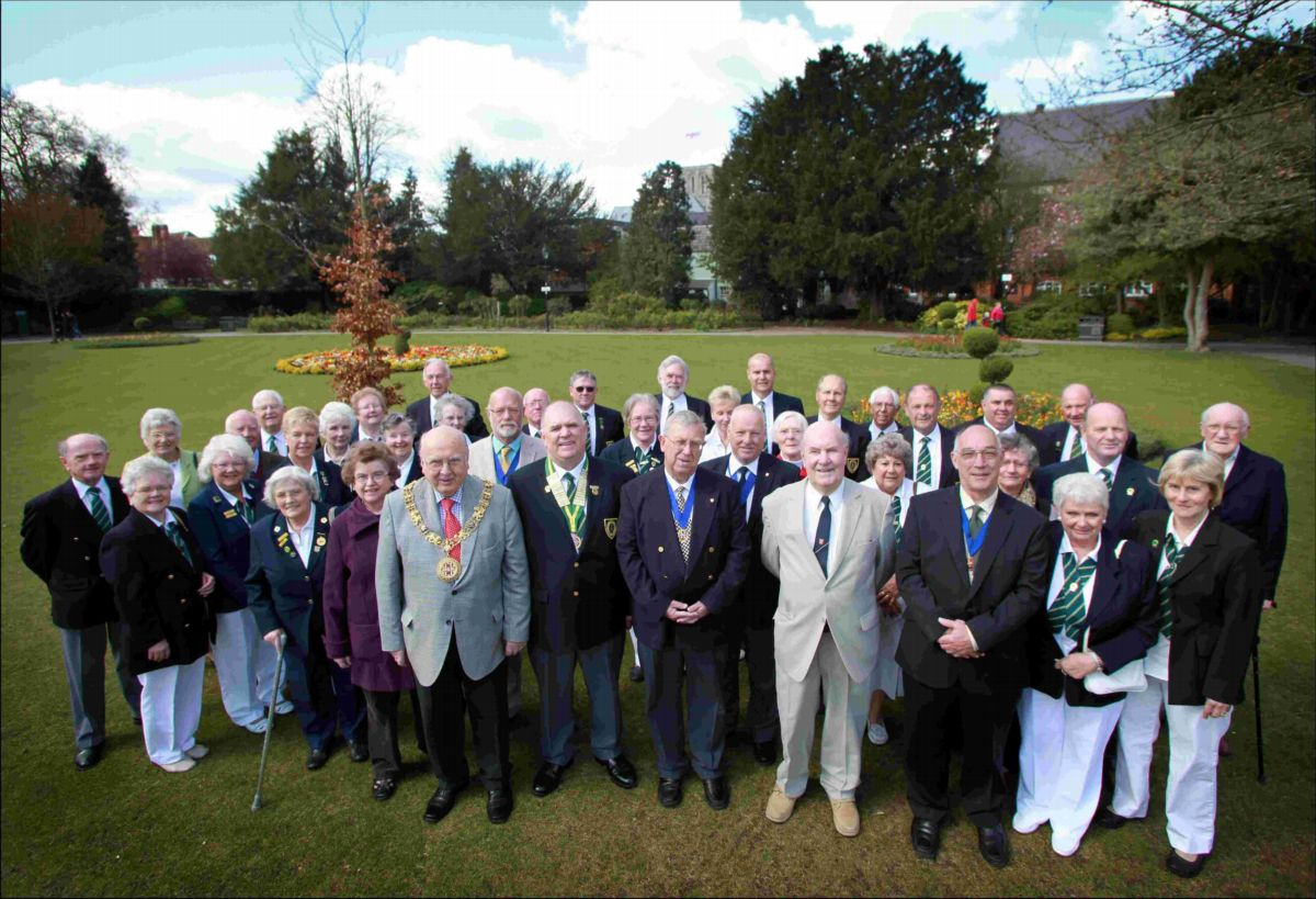 Winchester mayors past and present met members of Hyde Abbey Bowls Club for the first day of the new season. The club is 200-years-old in 2012.