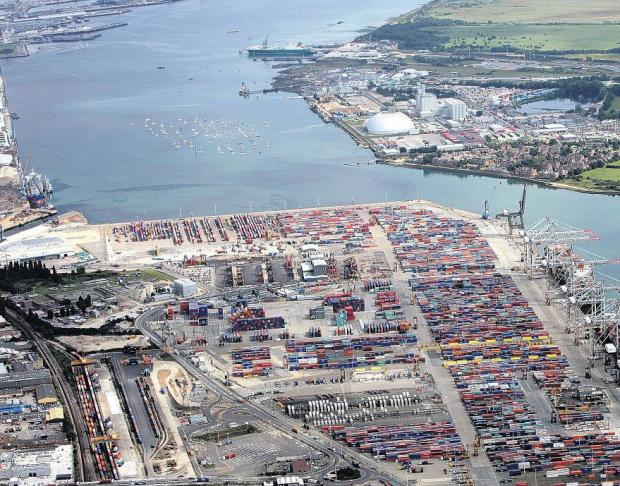 Hampshire Chronicle: Southampton Port.