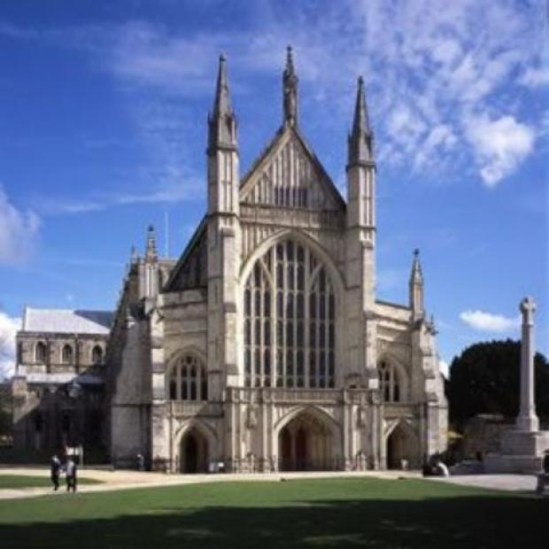 Two tours of Winchester Cathedral launch new book