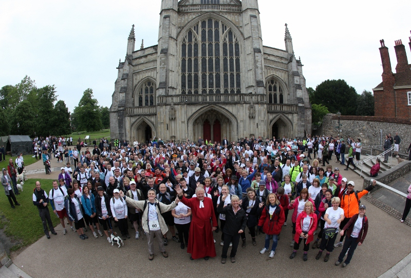 The Clarendon Way Walk 2012 at Winchester Cathedral
