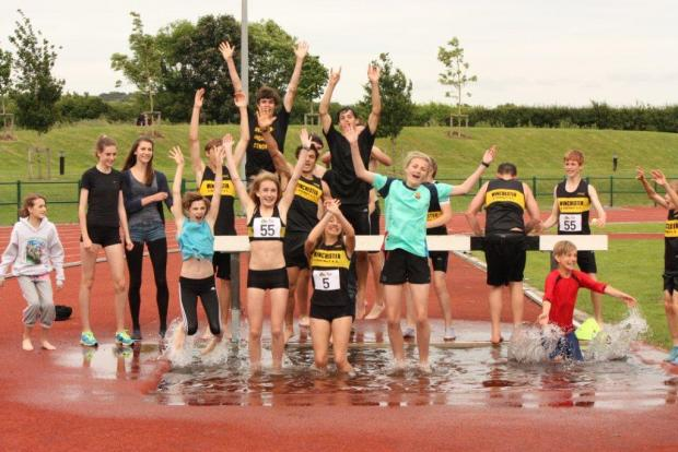 WADAC members celebrating a successful meet in 2012